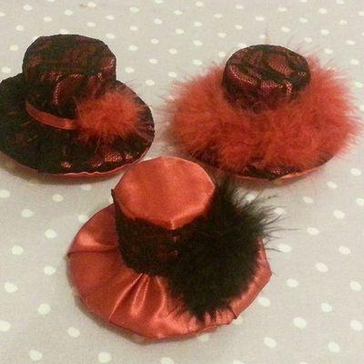 Mini chapeaux pour cheveux 10/2013