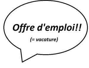 Offre d'emploi (avec néerlandais)