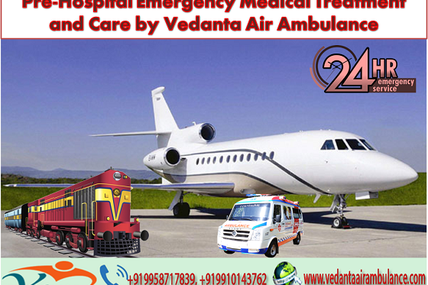 Pre-Hospital Emergency Medical Treatment and Care by Vedanta Air Ambulance in Patna