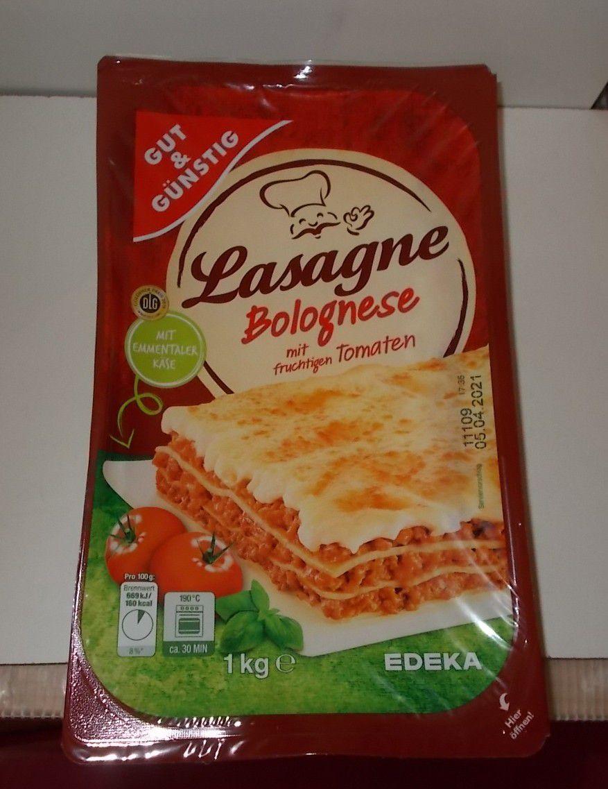 Edeka Gut & Günstig Lasagne Bolognese XXL