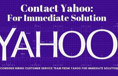 Consider Hiring Customer Service Team from Yahoo for Immediate Solution