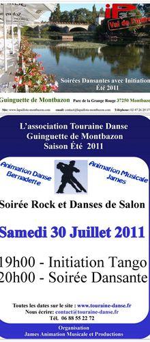 Guinguette de Montbazon - Samedi 30 Juillet 2011 - Touraine Danse de Salon et Rock