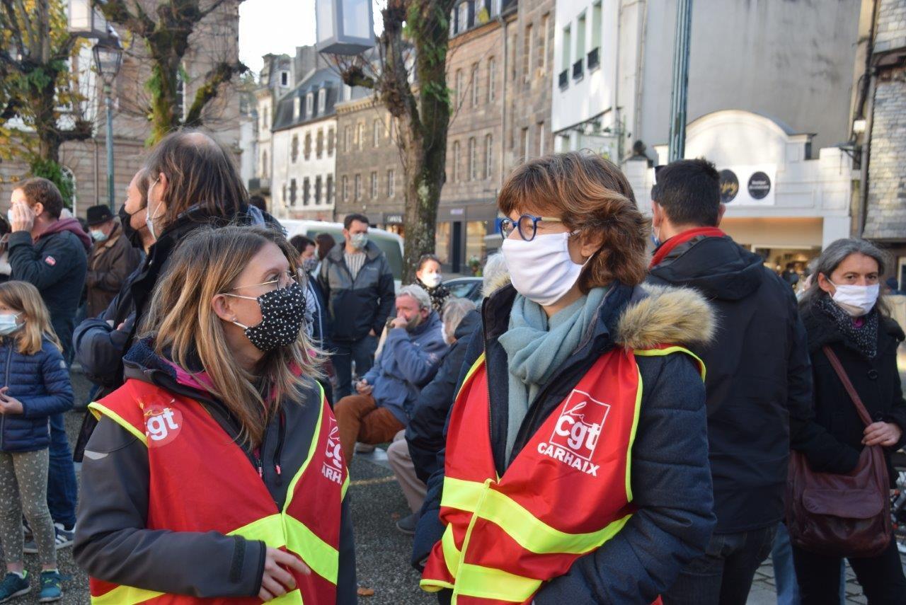 Photo Pierre-Yvon Boisnard - Morlaix - Manif contre la Loi Sécurité Globale, 28 novembre 2020