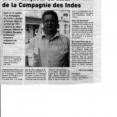 Le Télégramme, juillet 2009