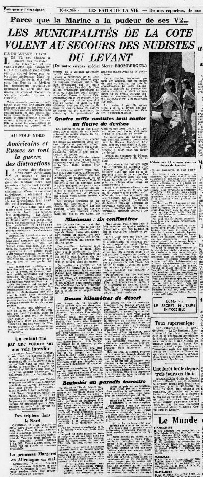 1955 : La Marine et les nudistes du Levant 1/2