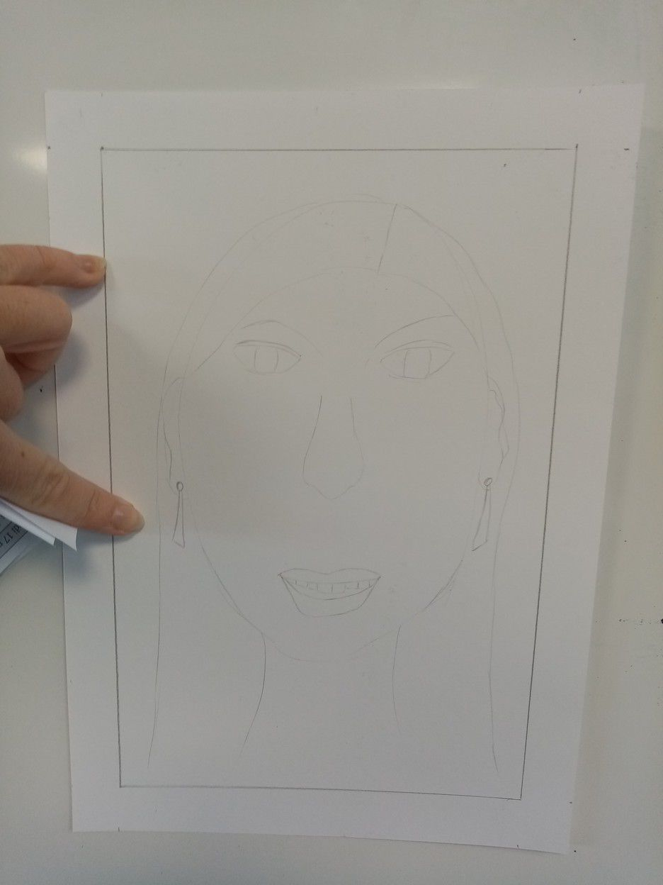 portrait à la manière de Matisse