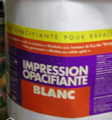 Peinture façade opacifiante 16 litres
