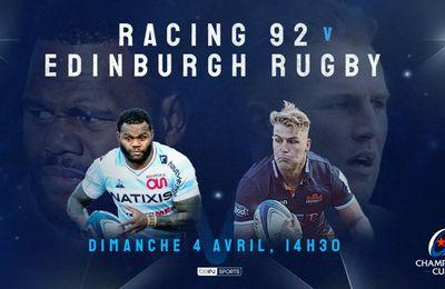 Racing 92 / Edinburgh : Sur quelle chaîne suivre la rencontre dimanche ?