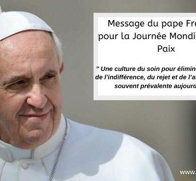 Journée mondiale de la Paix : message du Pape François (1er janvier 2021)