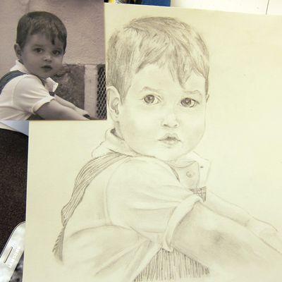 Cours de dessin adolescents: le portrait.
