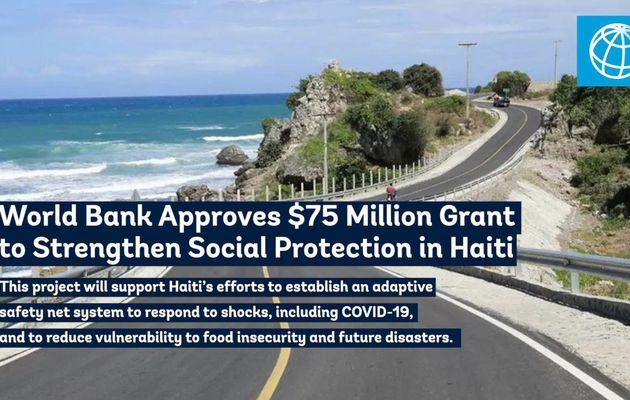 Don de 75 millions de dollars approuvé par la Banque mondiale à Haïti