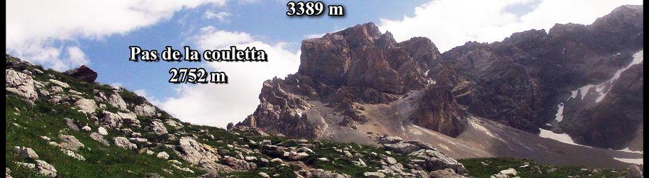 COL de LA COULETTA et COL du VALLONNET ( massif du CHAMBEYRON ) UBAYE