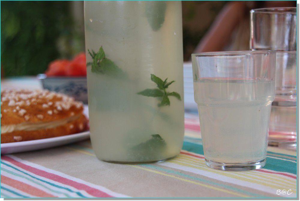 Home made limonade, souvenir de vacances en République Tchèque...