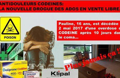 Parents réagissez !  pour protéger nos enfants - Médicaments avec codéine - interdisons la vente libre de la nouvelle drogue des ados
