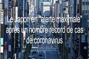 """Le Japon en """"alerte maximale"""" après un nombre record de cas de coronavirus"""