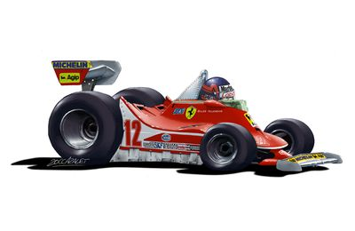 "Gilles Villeneuve ""Cartoon"""