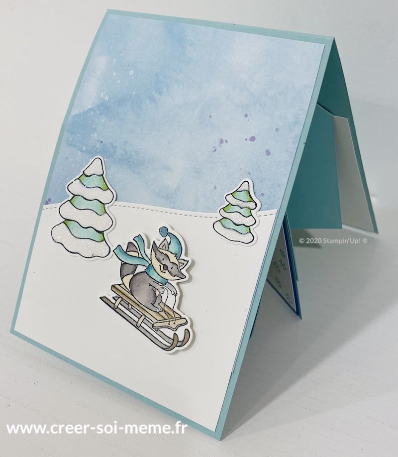 carte Z fun fond loisirs d'hiver stampin up sonia demonstratrice en normandie centre sommes nord