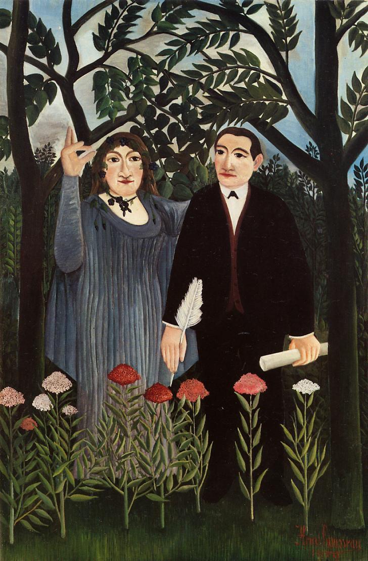 IMAGE : La Muse inspirant le Poète - Henri Rousseau 1909