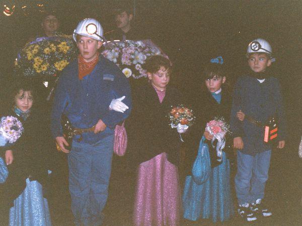 Sainte Barbe des enfants de Mineurs en 1993 à Algrange.
