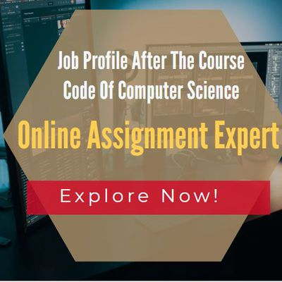 Job Profile After The Course Code Of Computer Science