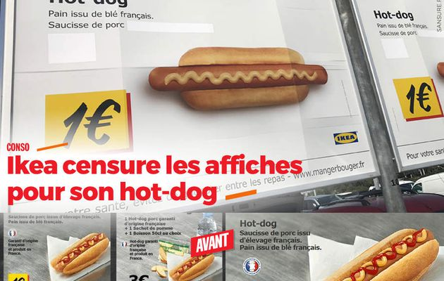 Ikea censure les affiches pour son hot-dog #MadeInFrance
