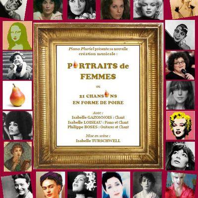 """Rappel : Mosaïques présente Vendredi 16 Octobre 2020 : Piano Pluriel dans """"Portraits de Femmes"""" à Villefranche de Lonchat"""