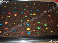 Brownie aux deux chocolats et M&M's