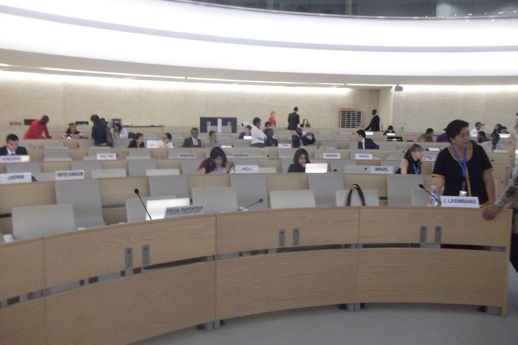 Genève, Suisse, au conseil des droits de l'homme, la 4e session du mécanisme d'experts sur les droits des peuples autochtones.