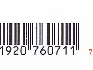 Codes-barres du bloc de 2017 avec blister à gauche, et  sans blister à droite.