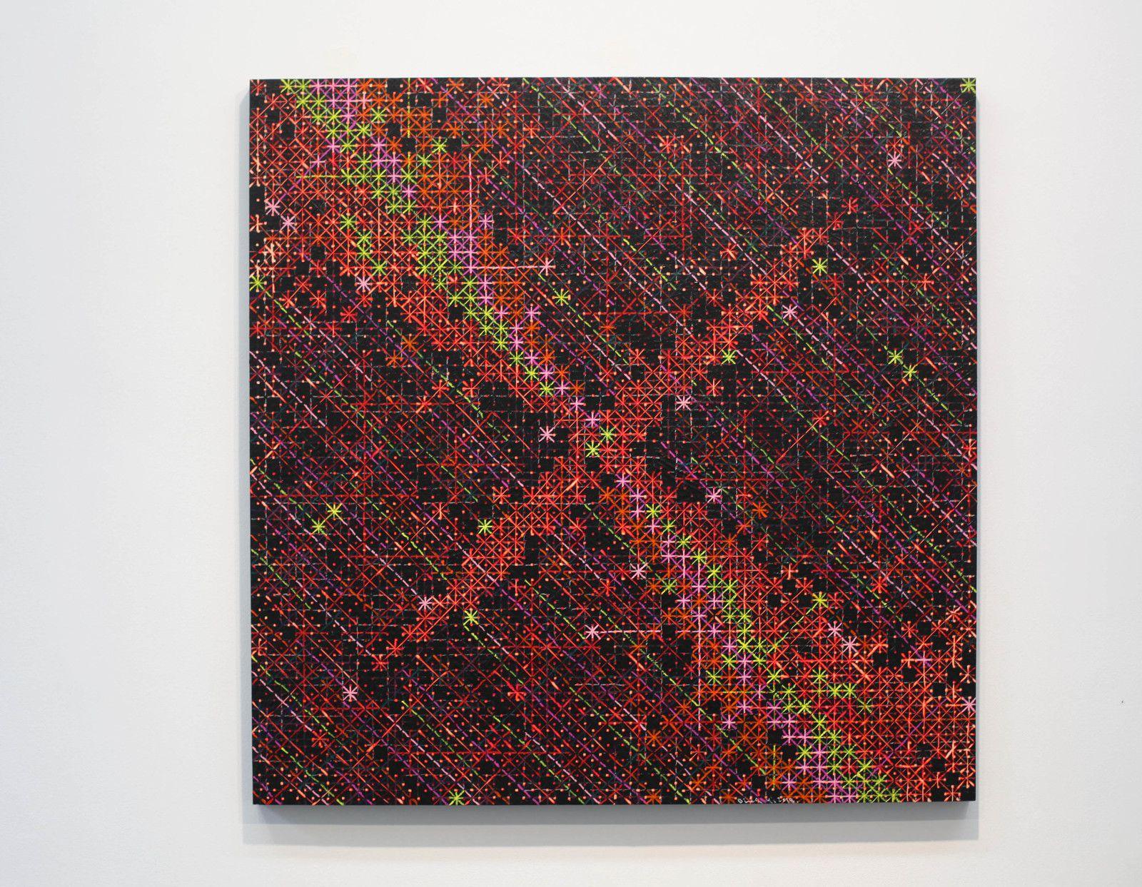 """""""Appearance of Crosses 2018-10"""", 2018 de Ding YI - Courtesy de l'artiste et de la Galerie  Karsten GREVE PARIS © Photo Éric Simon"""