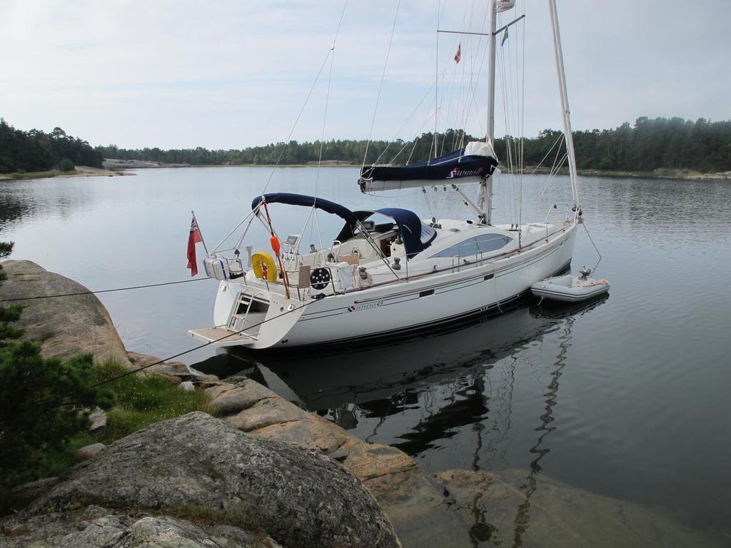 Manœuvres  en bateau : Porter des amarres à terre
