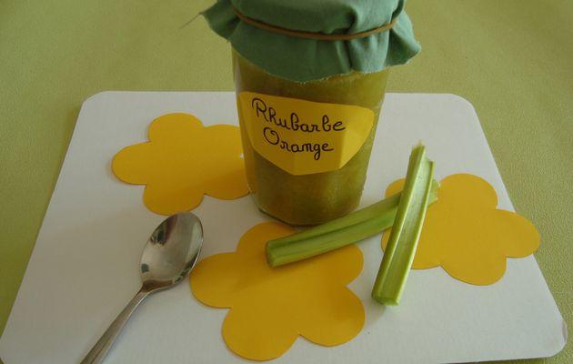 Confiture rhubarbe / orange