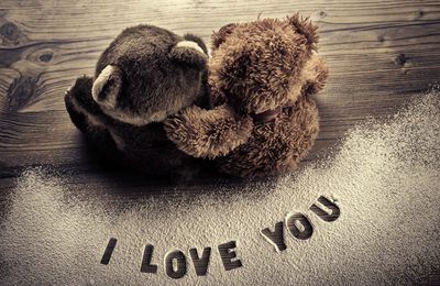 I Love you - Oursons - Couple - Amour - Photographie - Wallpaper - Free