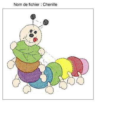 Motif Broderie Chenille