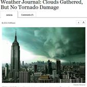 Is that really a picture of Hurricane Sandy descending on New York?