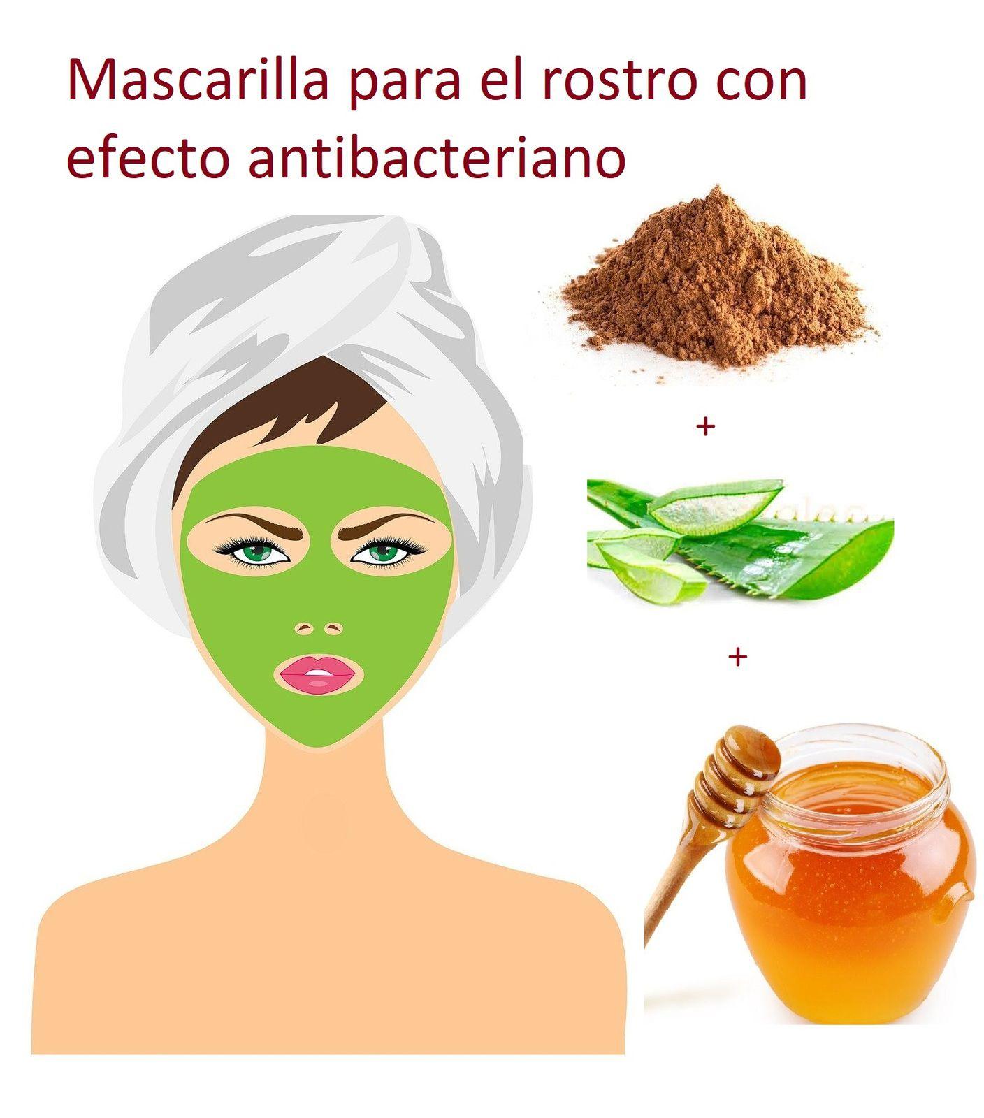 Mascarilla para el rostro con efecto antibacteriano