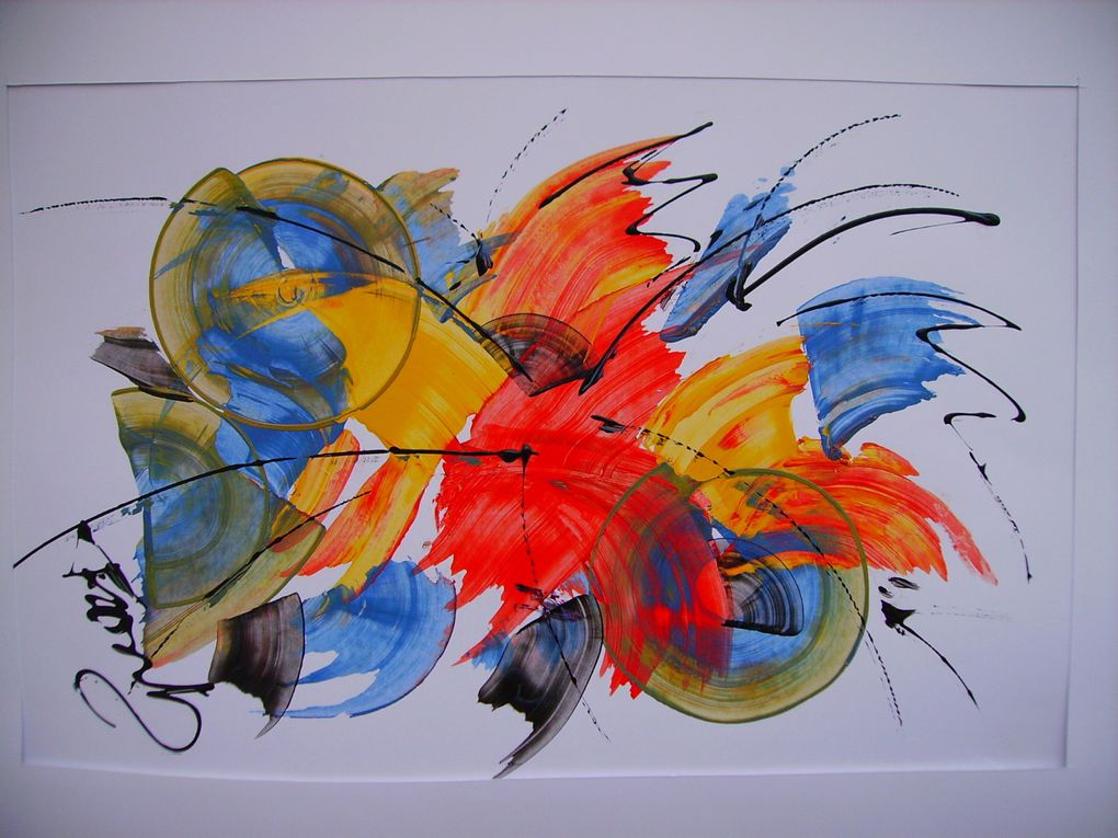 Album - acryliques-abstraites-sur-feuilles