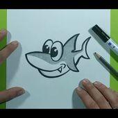 Como dibujar un tiburon paso a paso 15   How to draw a shark 15