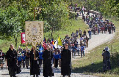 photo du jour . Clear Creek abbey pilgrimage 2021 les trois coeurs.