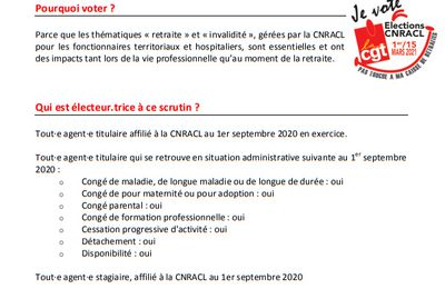 F.A.Q. ELECTIONS CNRACL