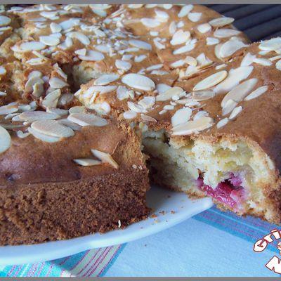 Gâteau framboises et chocolat blanc