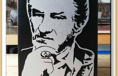 Portrait original et unique d'Eddy Mitchell