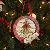 Recycled Ornament{Ms Smartie Pants}