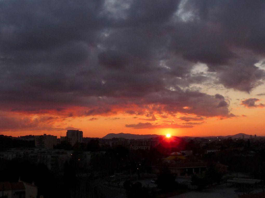 Coucher du soleil le 21 janvier 2016