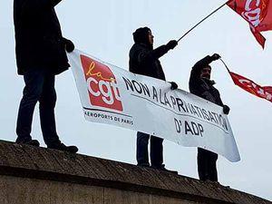 Trés forte mobilisation des salariés d'ADP contre la privatisation