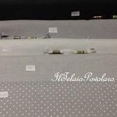 (Zweigart) belfast 126 fili 32 ct - base grigio perla pois bianco - Il Telaio Povolaro