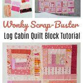 Scrappy Log Cabin Quilt Block Tutorial