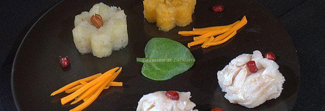Filets de cabillaud à la purée de rutabaga et topinambours