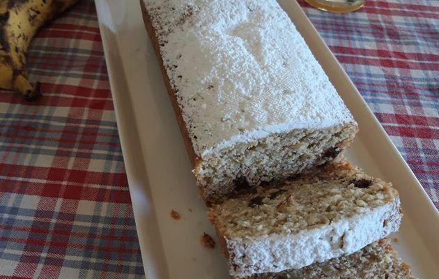 Gâteau banane et flocons d'avoine (recette sans gluten)