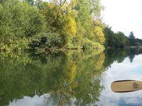 plan des passes à canoë de Grez à Moret/L et sur la rivière ......